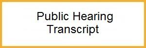 Public Hearing Transcript