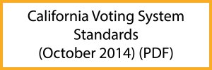 California Voting System Standards